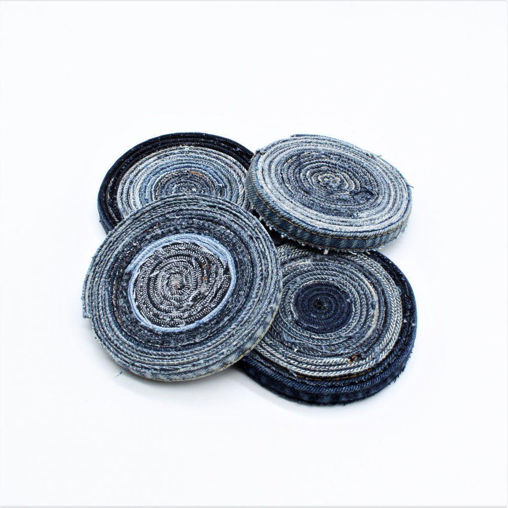 Jeans-Untersetzer als Set