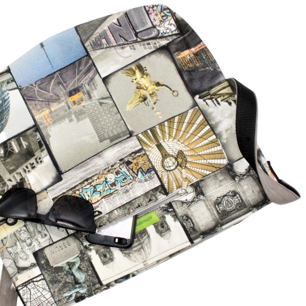 obere Ansicht der Handtasche Berlin