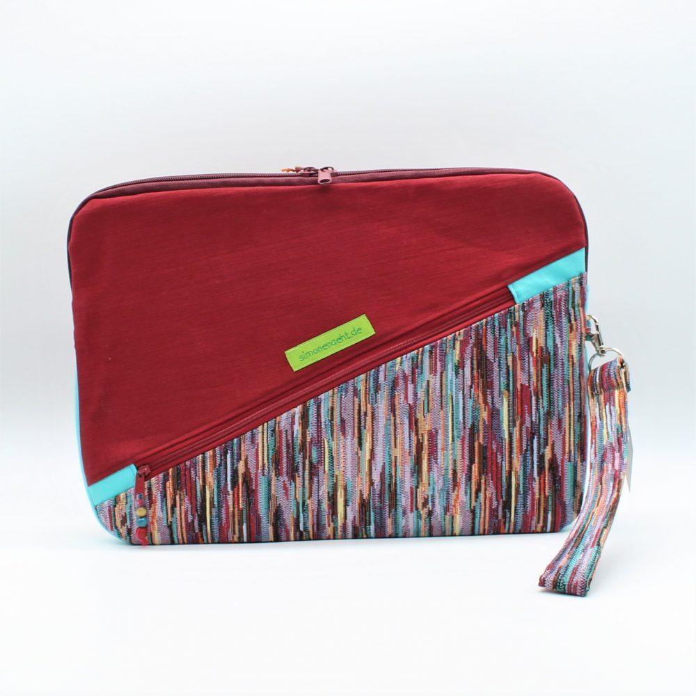 Rote Laptop-Tasche Rückansicht