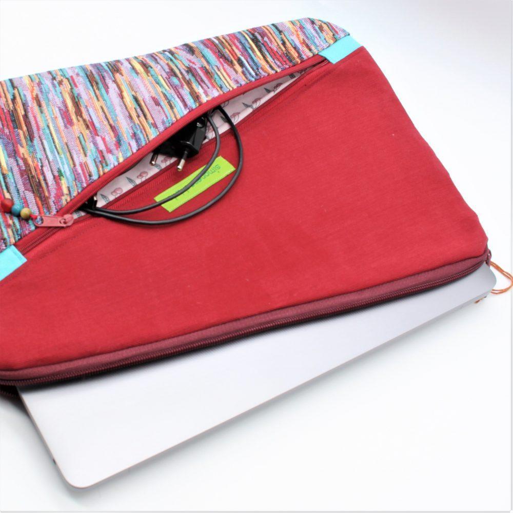 rote Laptop-Tasche für 13 Zoll