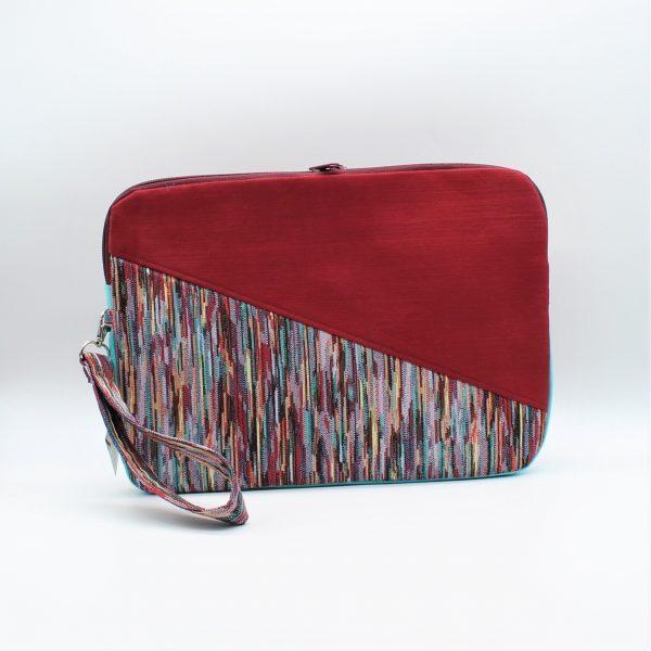 Rote Laptop-Tasche vorn