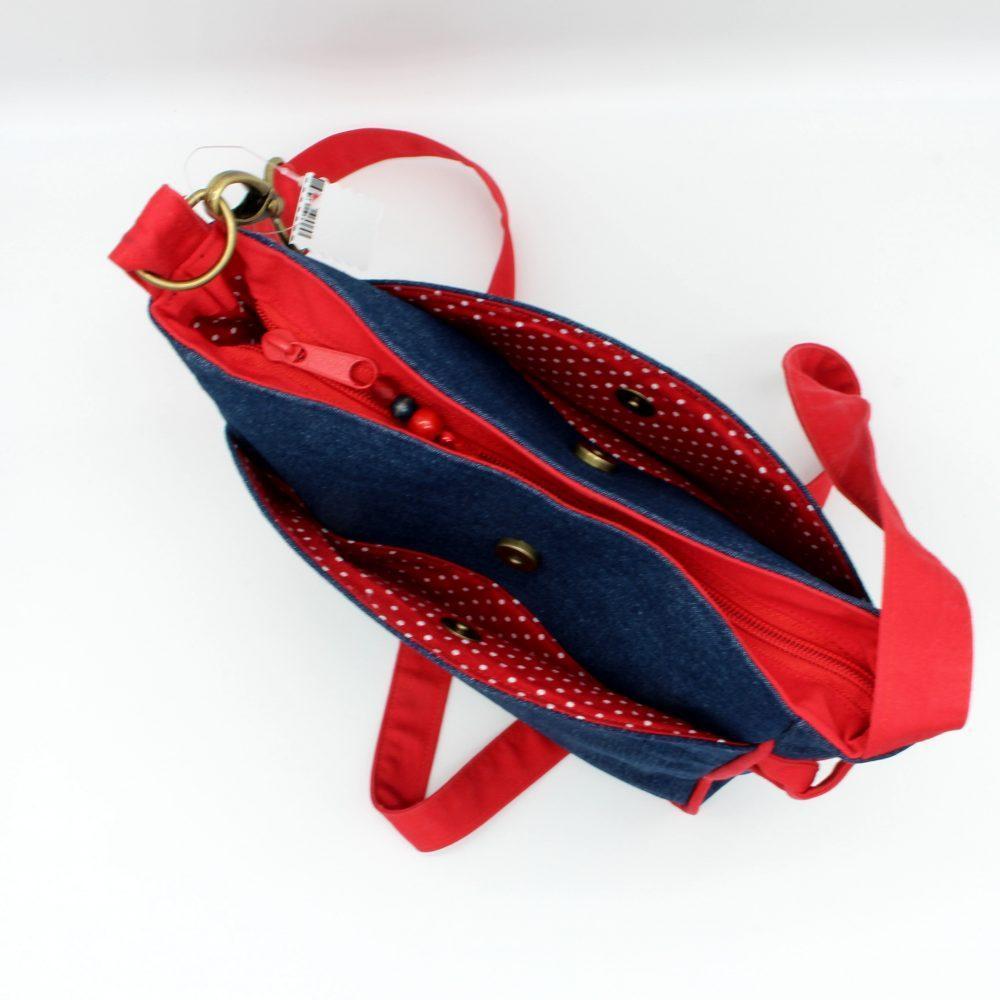 """Handtasche """"Linda"""" mit roten Paspel"""