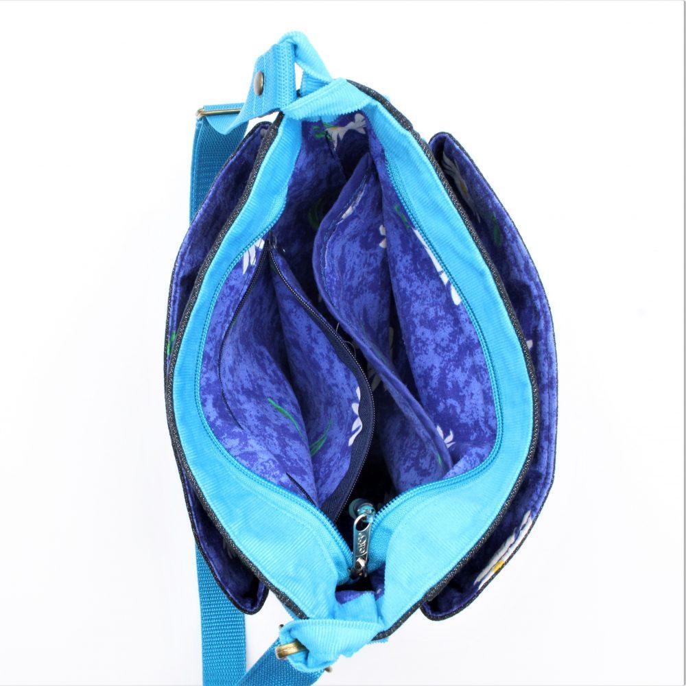 Tasche mit großen fächern