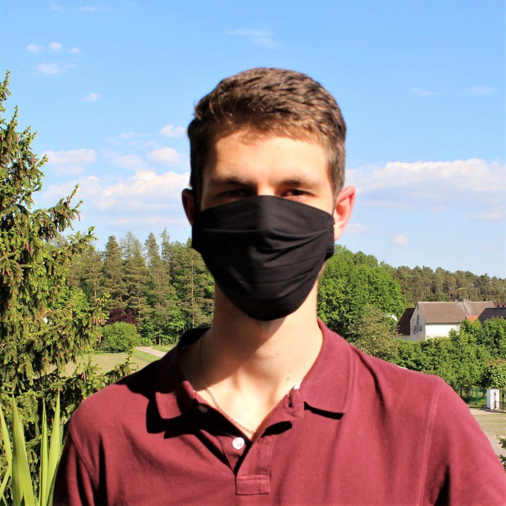 Mund Nasen Maske Schwarz