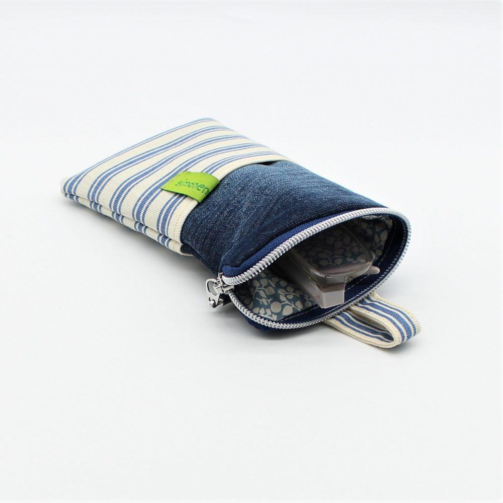 Handy Tasche Jeans Beige