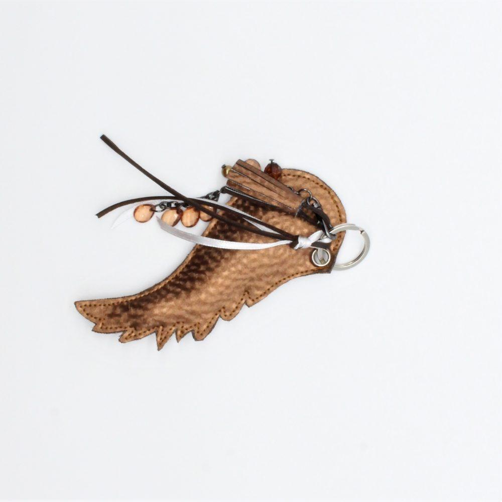Bronze Engelsflügel als Schlüsselanhänger