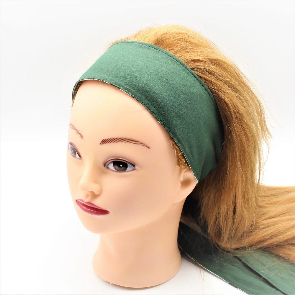 Haarband in grün zum binden