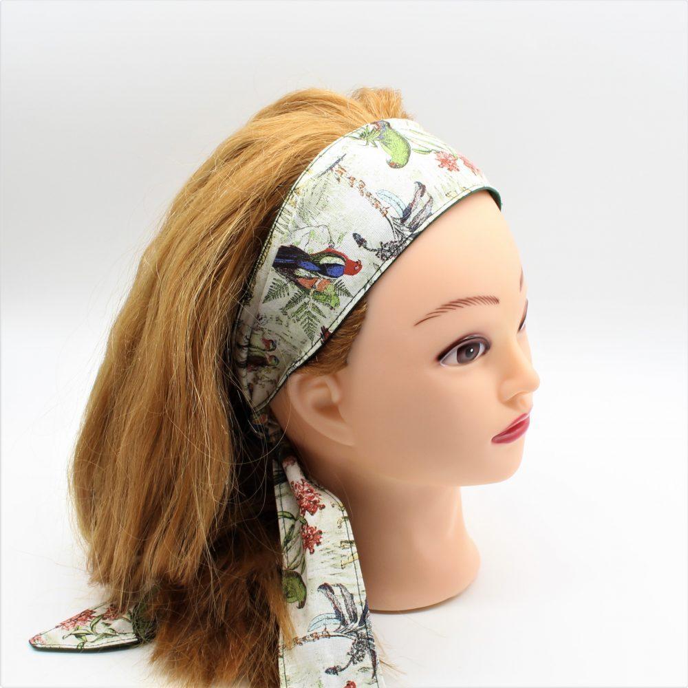 Haarband zum binden mit Vögel