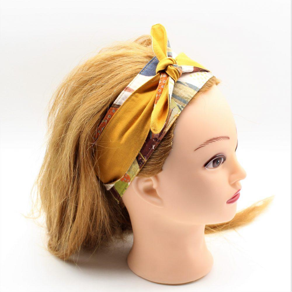 Haarband in gelb zum binden