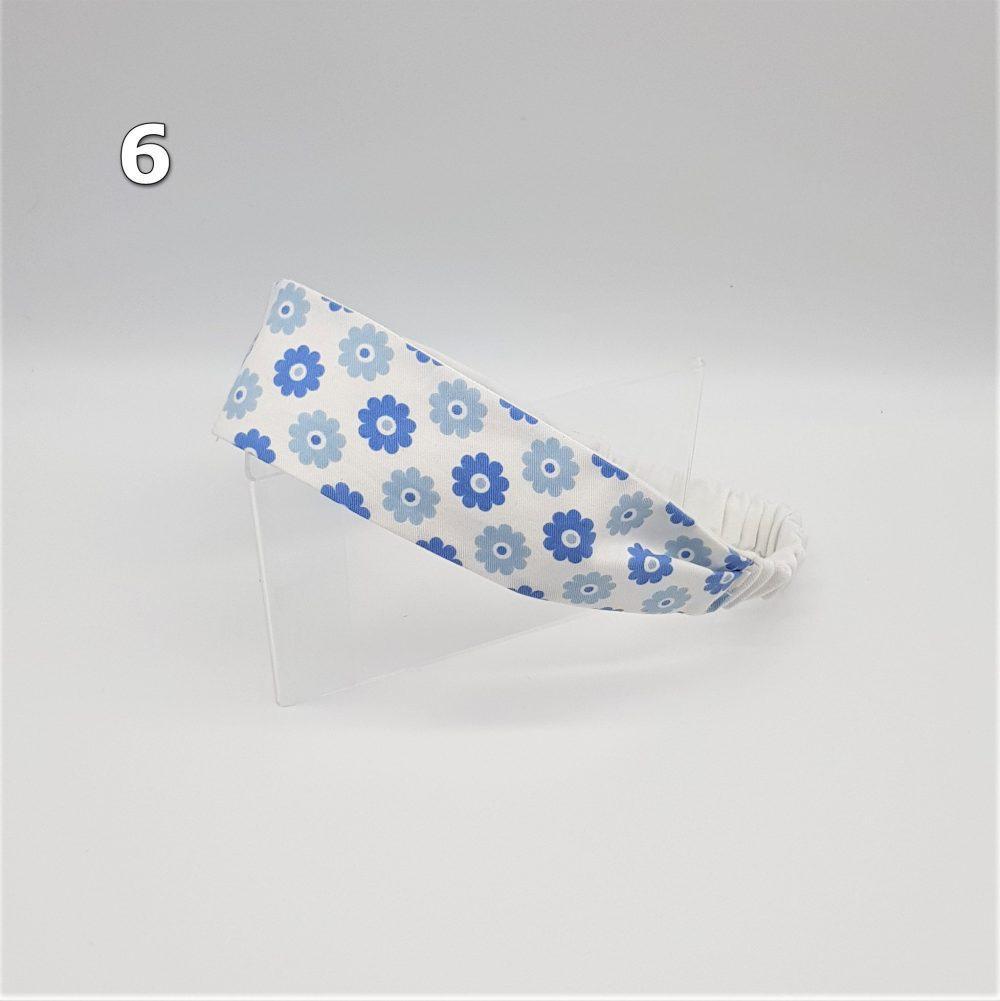 Haarband blaue Blumen