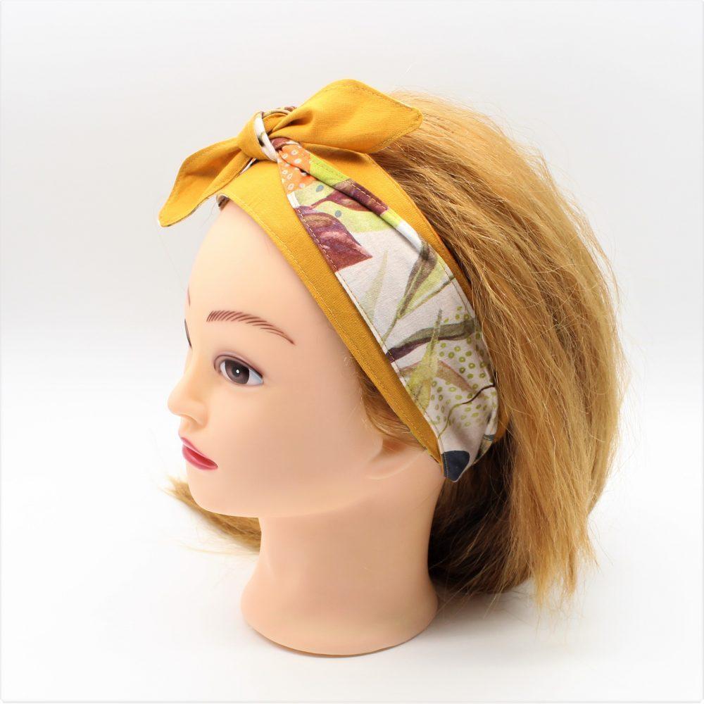 Haarband zum Binden mit Blumen