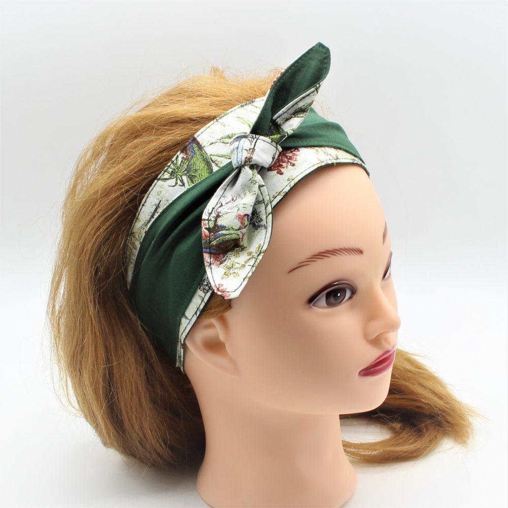 Haarband zum binden in grün