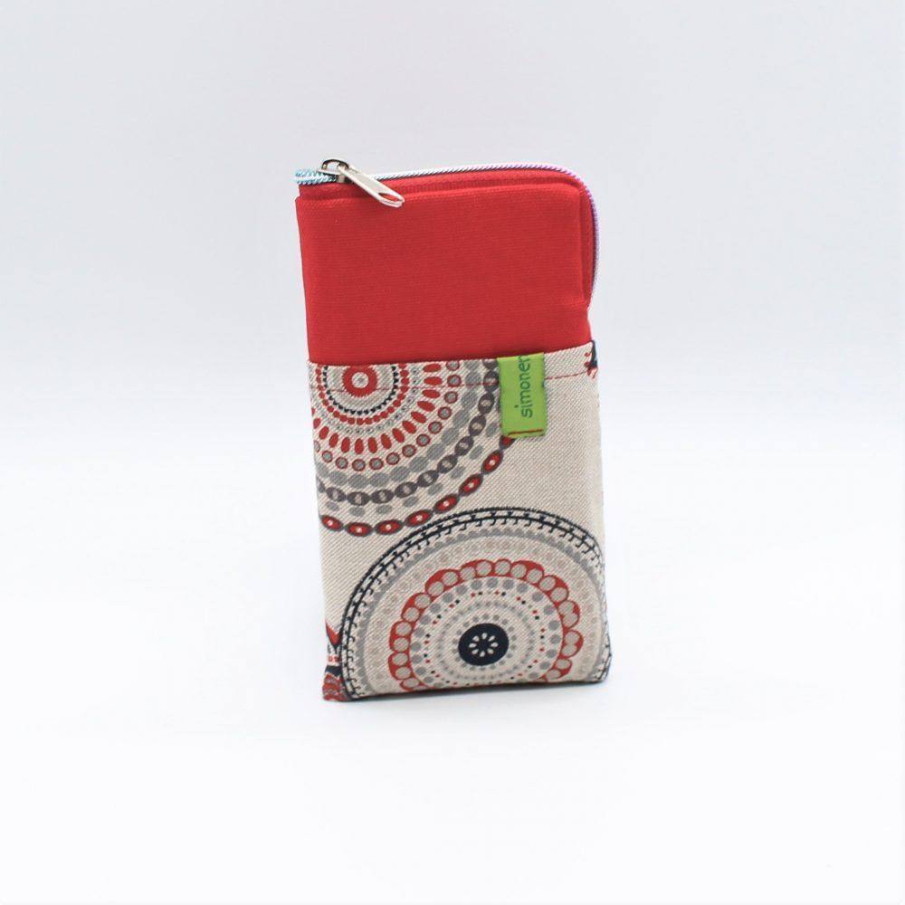 trendige und praktische Handytasche in rot
