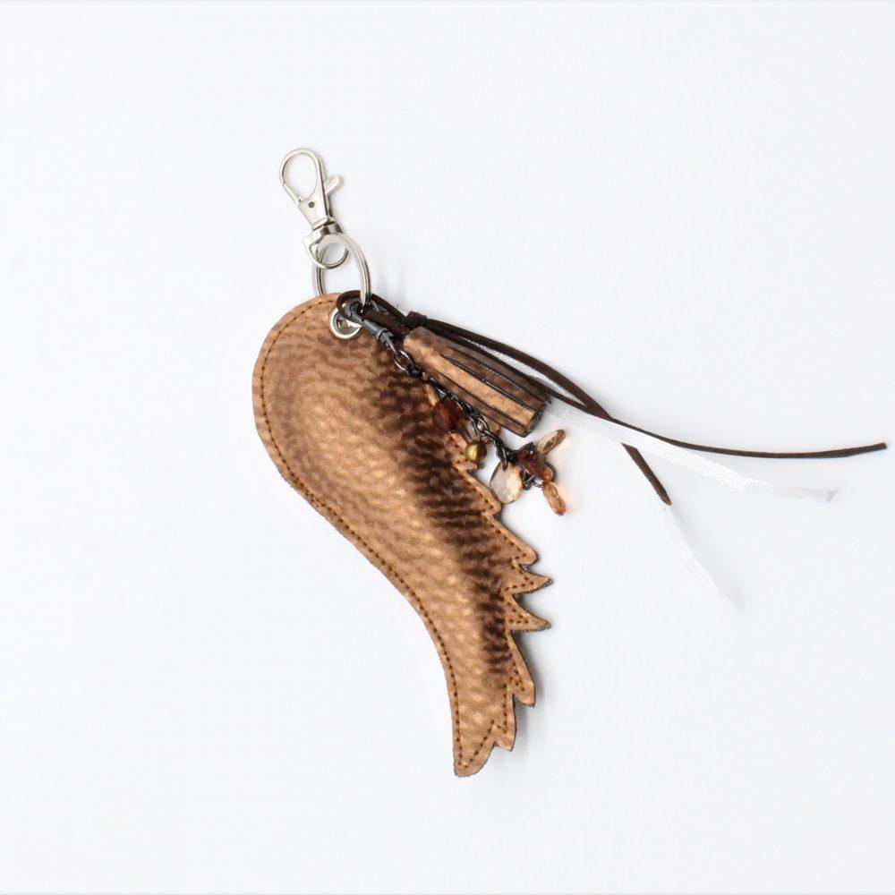 Schlüsselanhänger Bronze Engelsflügel