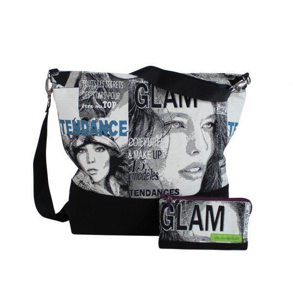 Taschen-Set in schwarz weiß