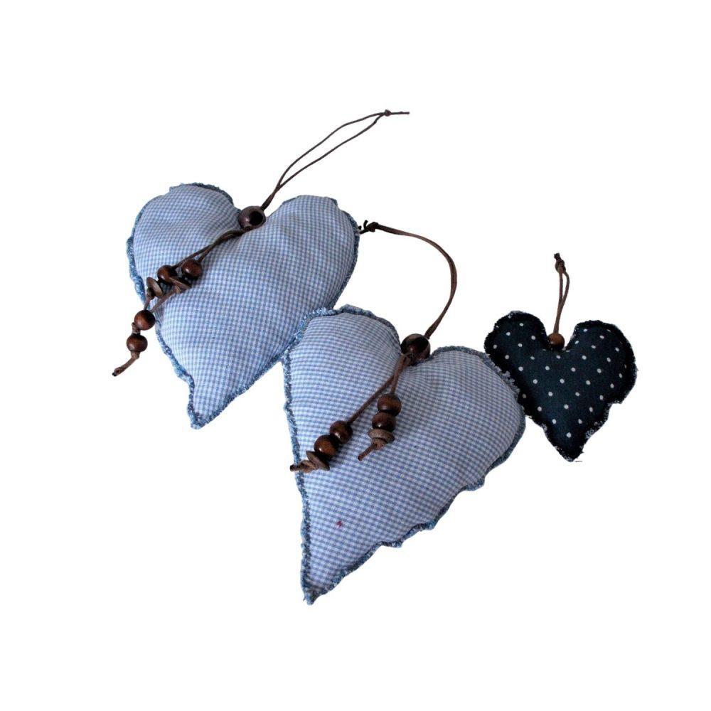 blaue Anhänger Herzen