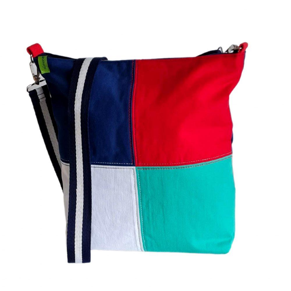 farbenfrohe Jeanstasche