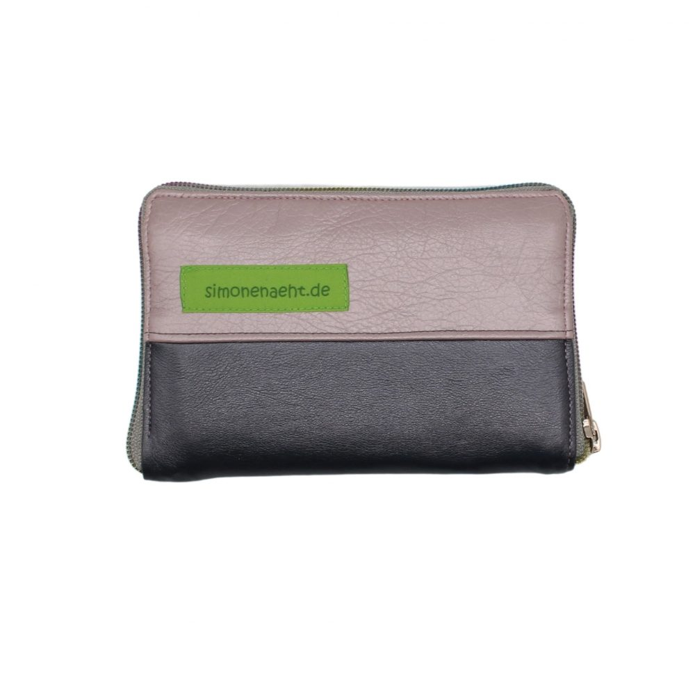 Portemonnaie rosa-grau