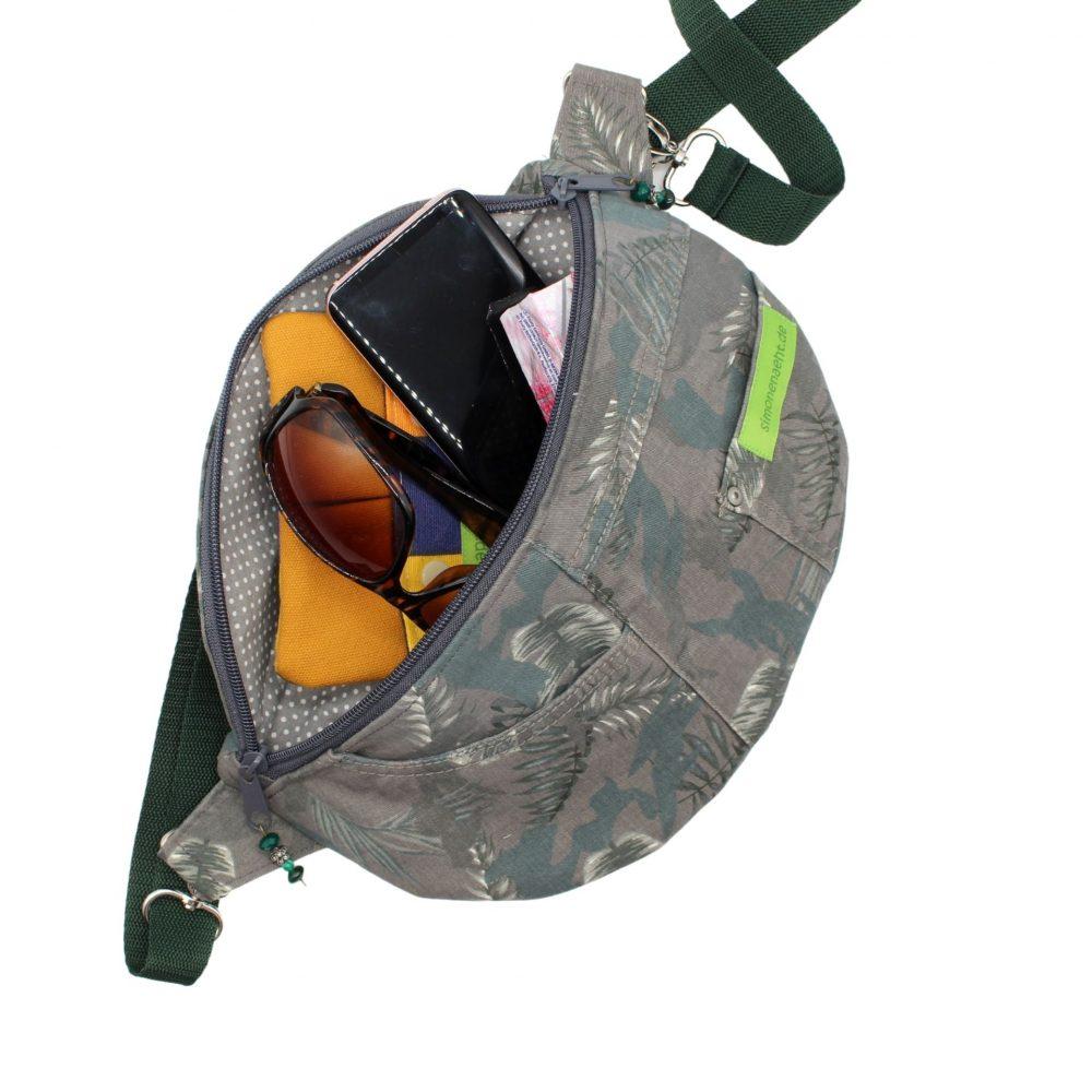 Innenansicht der Hüfttasche im Upcycling