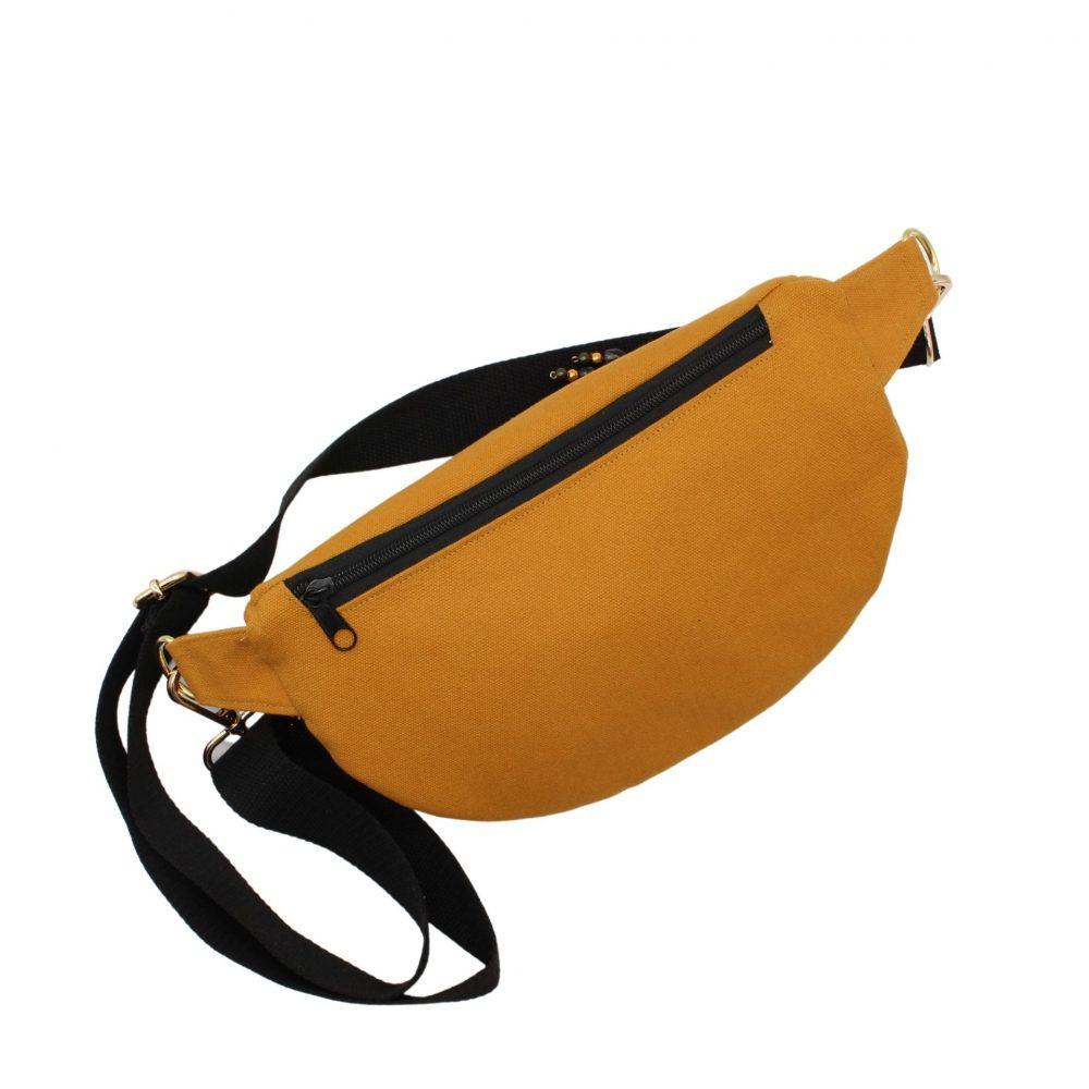 gelbe Canvas-Hüfttasche
