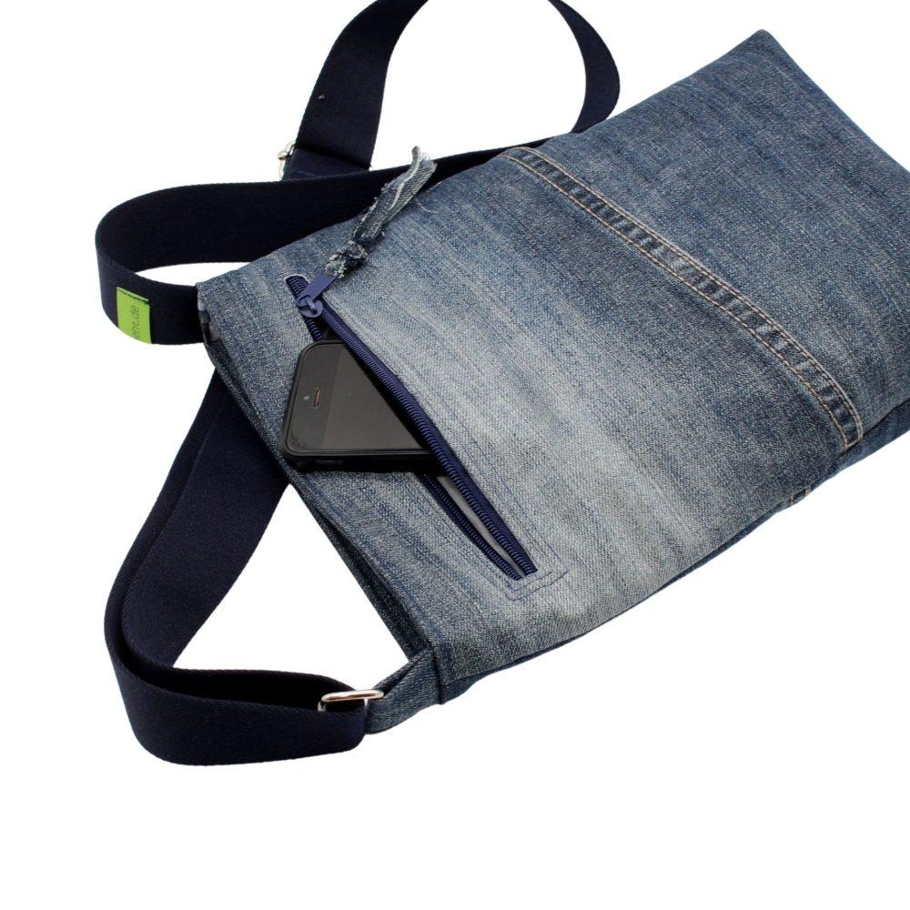 Rückseite der Jeanstasche