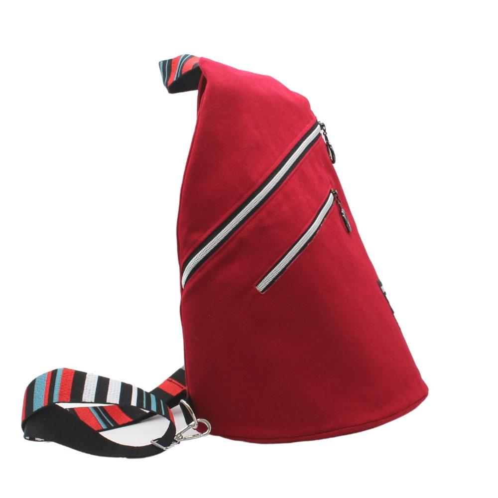 Cross-Bag für Damen aus roten Canvas